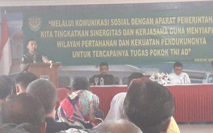 KODIM 0606 Gelar Silaturahmi Dengan Aparat Pemkot Bogor