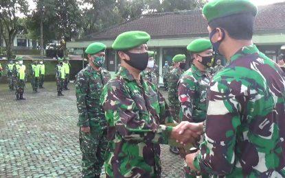 Anggota Satgaster dilepas  Dandim 0607/Kota Sukabumi