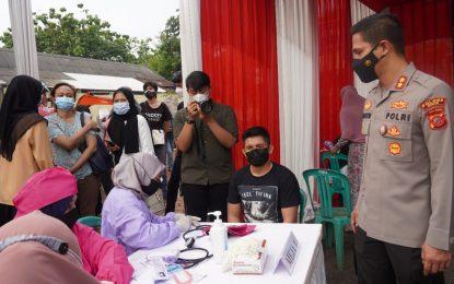 Akselerasi Vaksinasi Masal Covid 19 di Polres Bogor